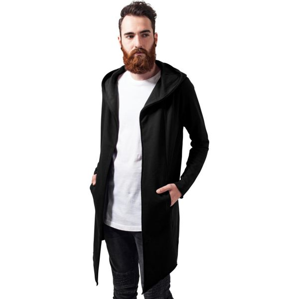 Long Cardigan mit Kapuze