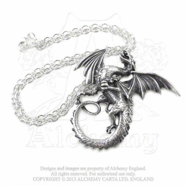 Halskette mit Drachen Anhänger - The Whitby Wyrm