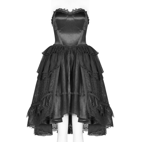 Gothic Lolita Corsagenkleid im Vokuhila Look