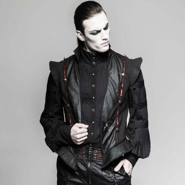 Schwarze Weste in extravagantem Gothic Design