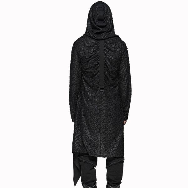 Post Apocalyptic Cardigan mit Oversize Kapuze