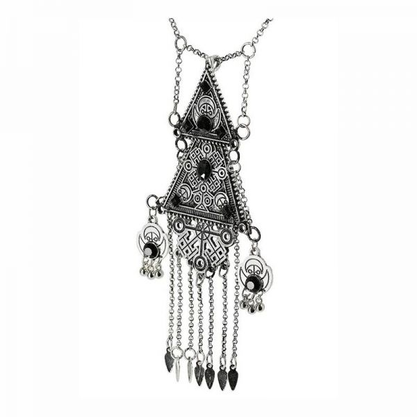 Statement Halskette im Gotik Stil silber