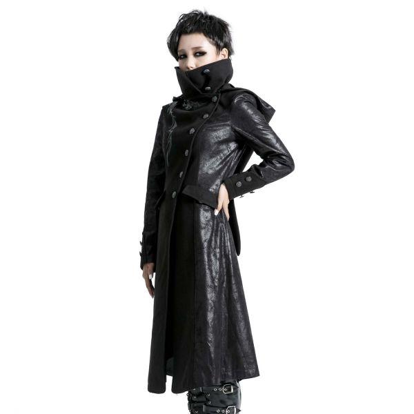 Mantel mit hohem Kragen, Zipfelkapuze und Tribals