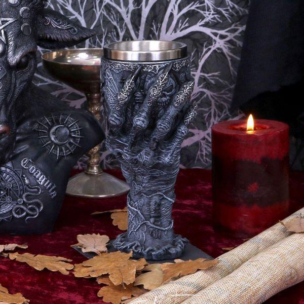 Baphomets Hand Kelch im Okkult Style
