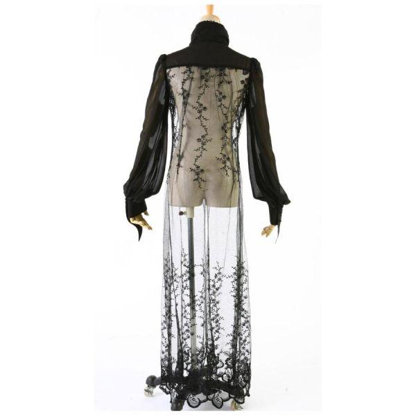 Bluse aus Spitze und Tüll im Mantel Cardigan Look