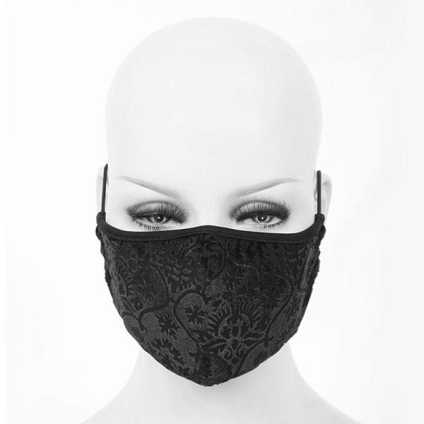 Devil Fashion Maske aus Samt im Barock Stil mit Filter-Fach