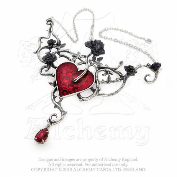 Halskette mit Anhänger - Bed of Blood Roses