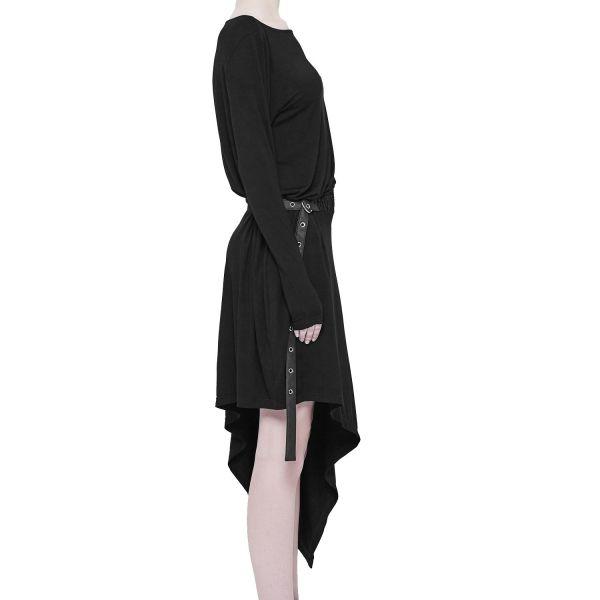 Asymmetrisches Casual Kleid mit Taillengürtel