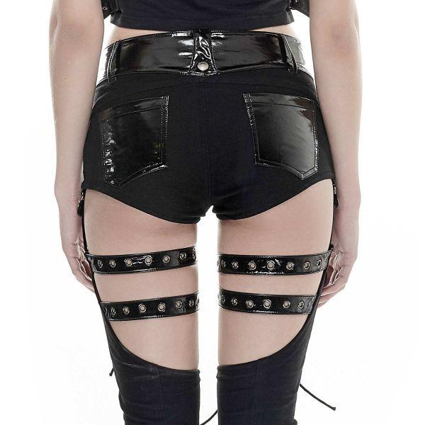 Hose mit Beinstulpen im Straps Holster Look