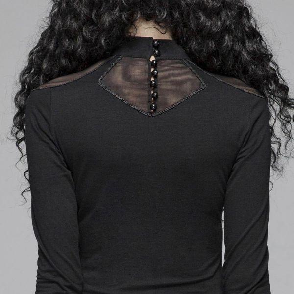 Shirt mit Cut-Outs und Netz im Käfig Look