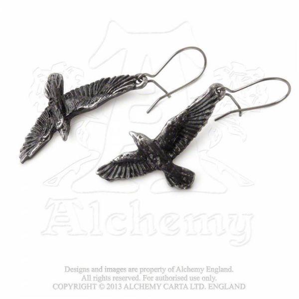 Fantasy Ohrhänger - Black Raven
