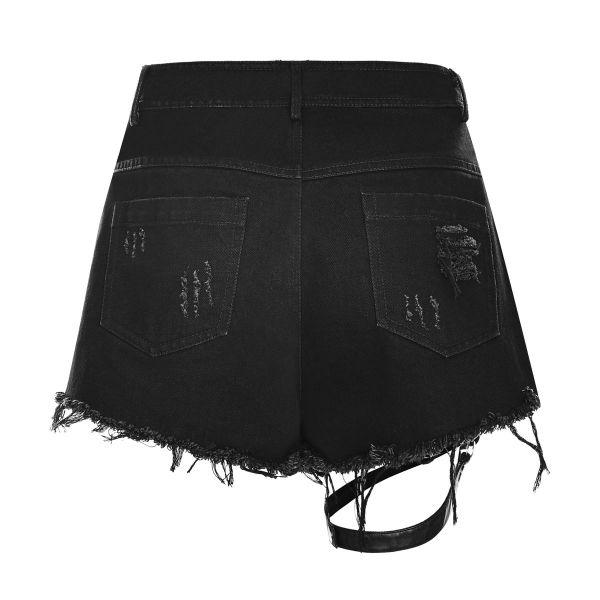 Heavy Destroyed Hotpants mit Rissen und Beinholster