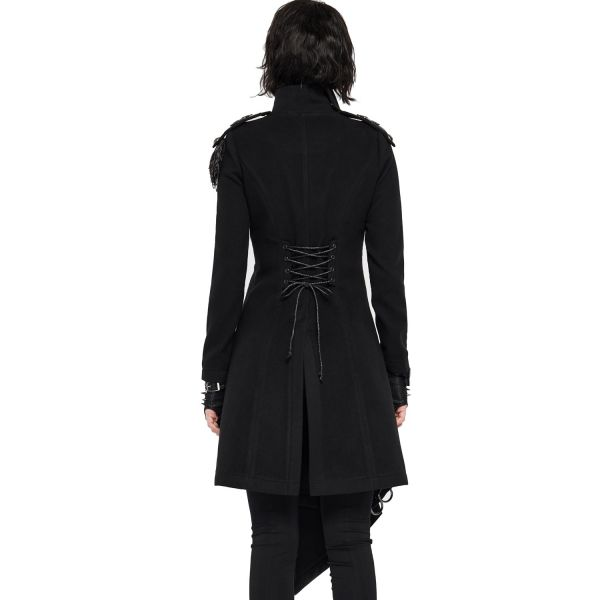 Military Style Mantel mit Epauletten im Offiziers-Look