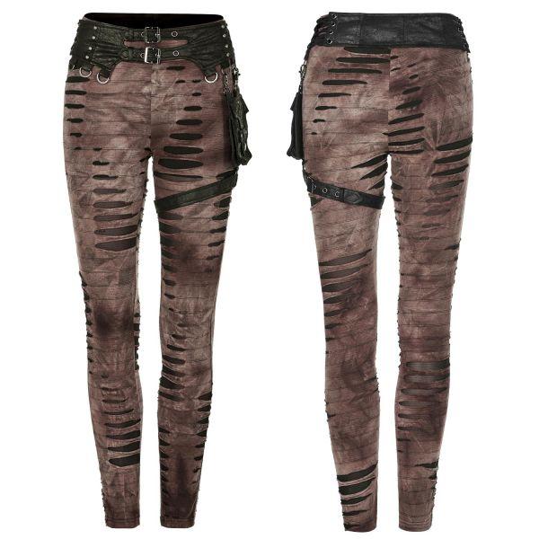 Post Apocalyptic Leggings mit Taillengürtel und Tasche