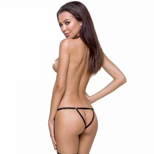 Bodystrap Harness mit ouvert Panty im Fessel Look