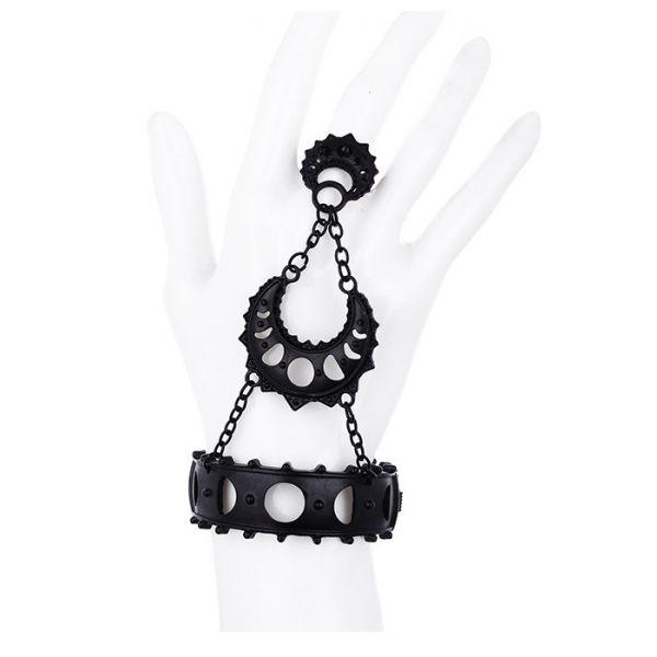 Handschmuck im Mondphasen Mystic Style mit Ring