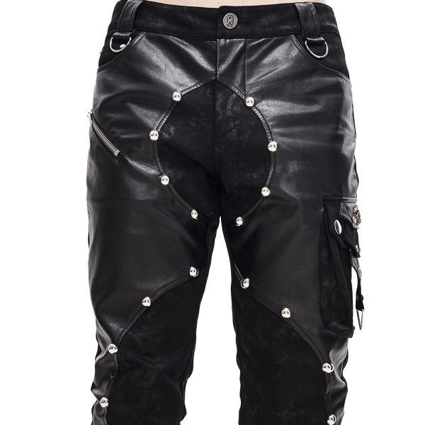 Grunge Style Hose im Chaps Look mit Beintasche