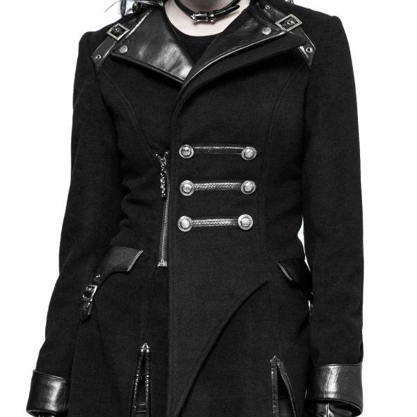 Futuristischer Uniform Mantel in asymmetrischem Design