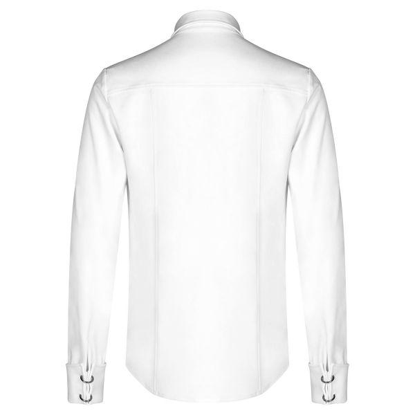 Hemd im Offiziers-Look mit breiten Arm Manschetten