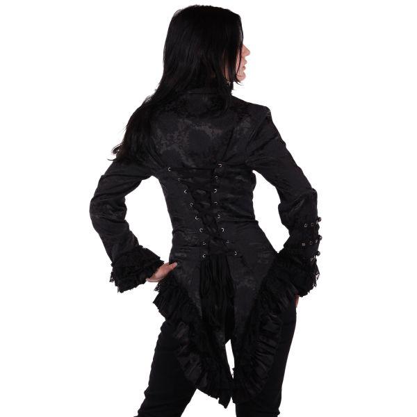 Frack Jacke im Brokat Look mit Spitze und Nieten