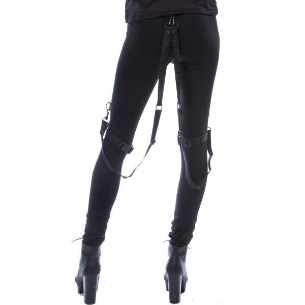 Metal Style Leggings mit Beinholster und Bondages