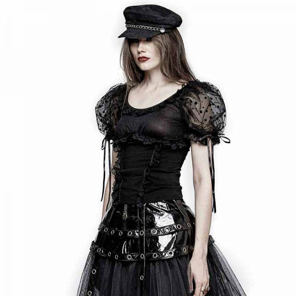 Gothic Lolita Top mit Puffärmeln und Rüschen