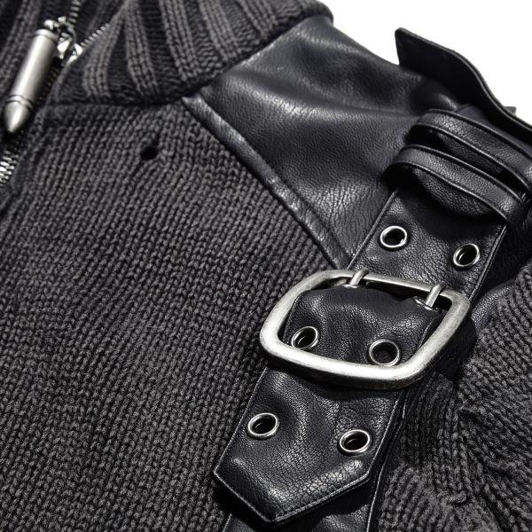 Strickpullover mit hohem Kragen im Offiziers Look