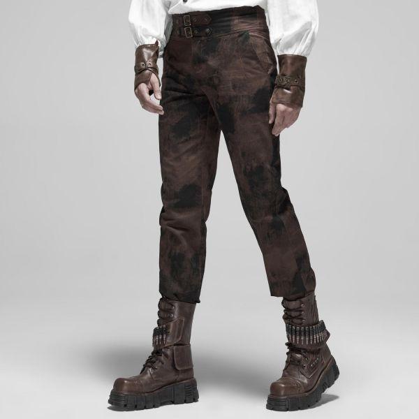 Steampunk Hose im Grunge-Style mit Schnallen