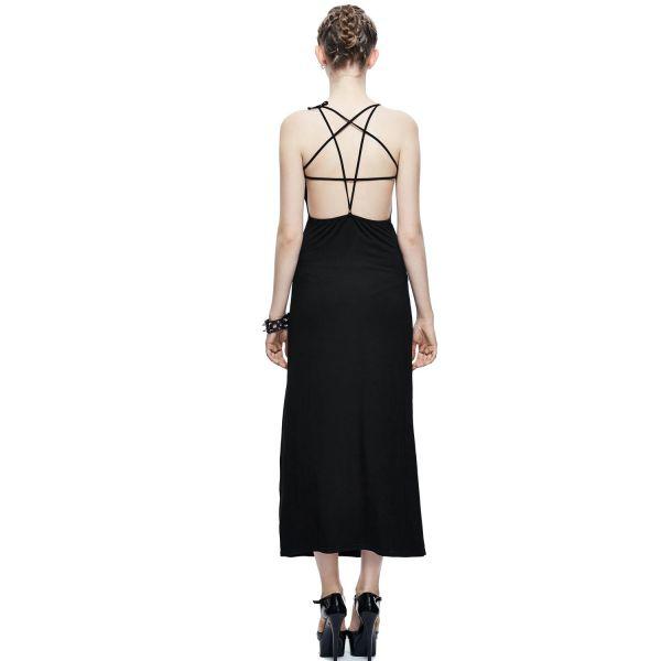 Sexy Schlauchkleid mit Pentagramm Riemchen am Rücken