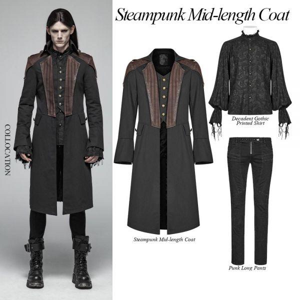 Steampunk Mantel mit Epauletten im Layering Look