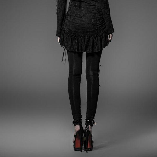 Dark Romantic Leggings mit Häkelspitze und Netz
