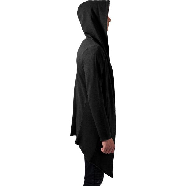 Asymmetrischer Kapuzen Long Cardigan im Street Style