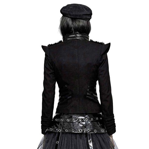 Jacke im Military Design mit Epauletten und Stehkragen