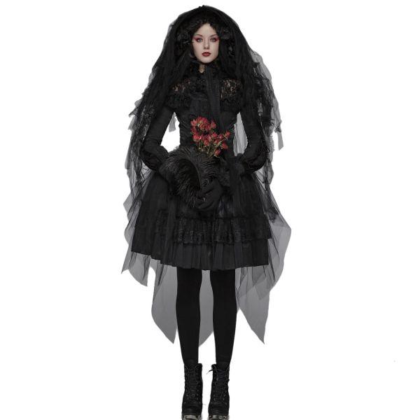 Gothic Lolita High Waist Rüschenrock mit Taillengürtel