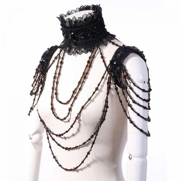 Glamouröses Ketten Halsband im Bolero Stil