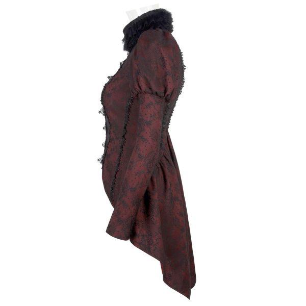 Viktorianische Vokuhila Bluse mit Spitze