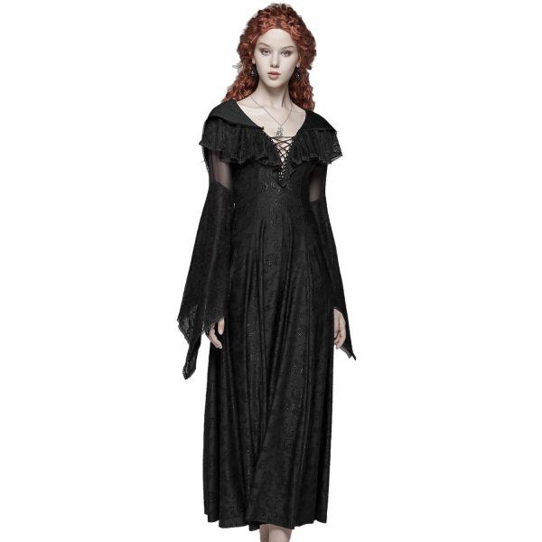 Mystisches Dark Romantic Kleid mit Cape und Kapuze