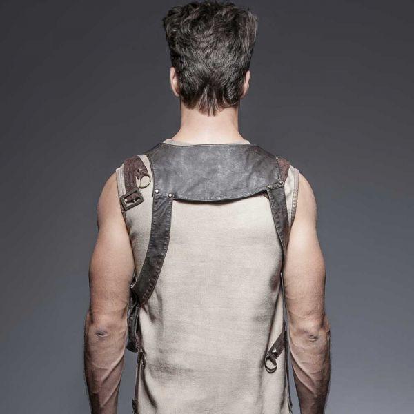 Steampunk Harness Top mit Tasche und Schnallen