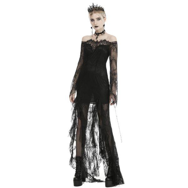 Empire Prinzessin Kleid mit Spitze im Off-Shoulder Look