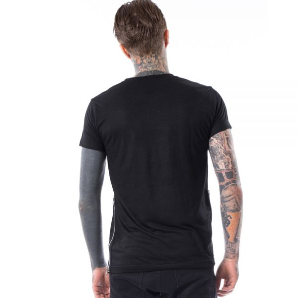 T-Shirt mit Zippern im Daily Goth Style