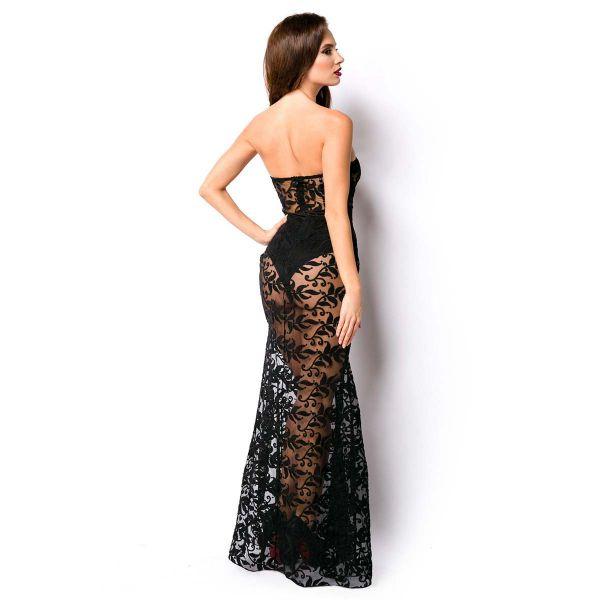 Transparentes Abendkleid im Meerjungfrau-Look