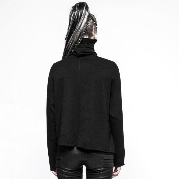 Gothic Pullover im Boho Style mit Schalkragen