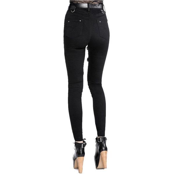 Slim Fit Jeans im Harness Look mit Riemen und O-Ringen