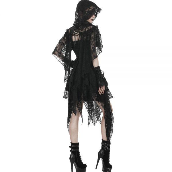 Gothic Lolita Bolero Kapuzen-Cape aus Spitze