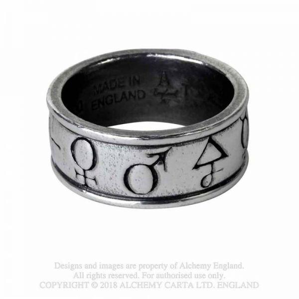 Principia Alchemystica Bandring mit magischen Symbolen