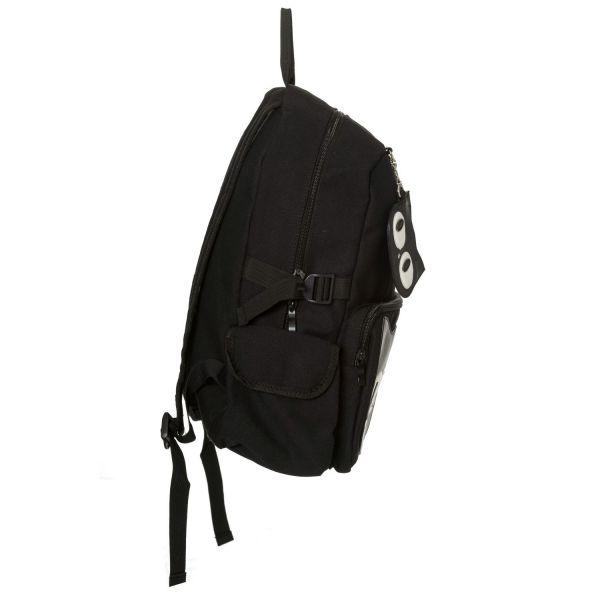 Schwarzer Rucksack mit Anhänger - Black Cat