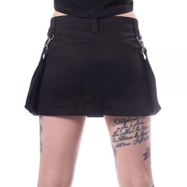 Daily Goth Minirock mit abnehmbaren Seitentaschen