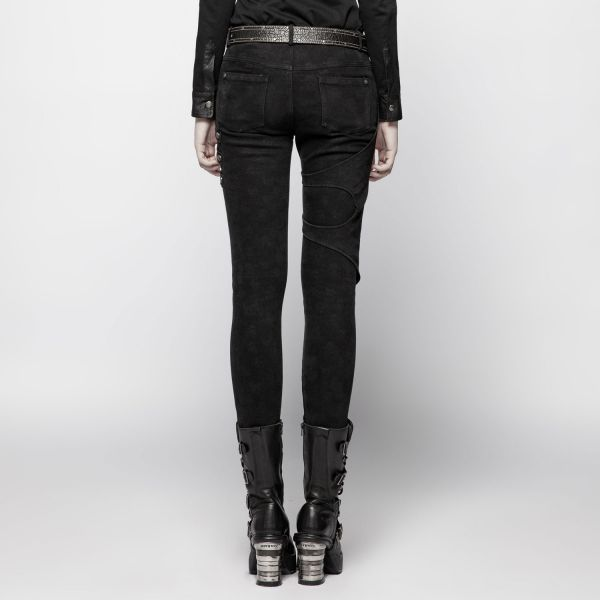 Industrial Skinny Hose mit Beinholstern im washed Look