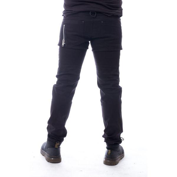 Hose mit Knie Akzentuierungen und Zippern