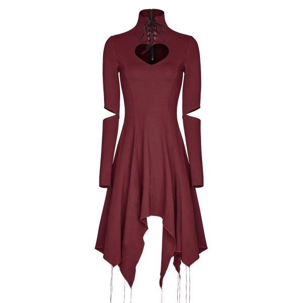 Asymmetrisches Kleid mit Herz Cut-Out und Schnürung